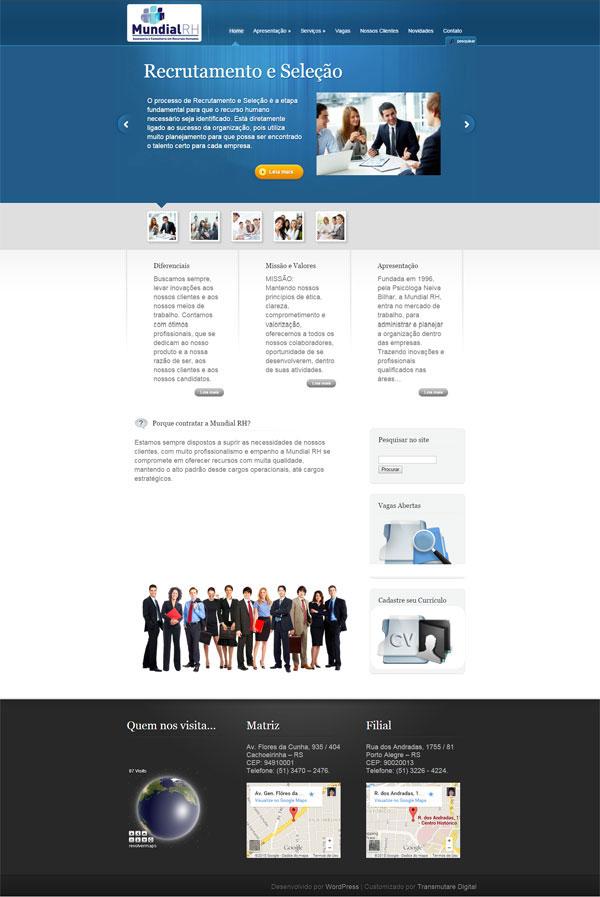 Novo Site Mundial RH